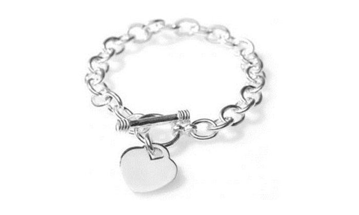 Classic Toggle Clasp Heart Bracelet