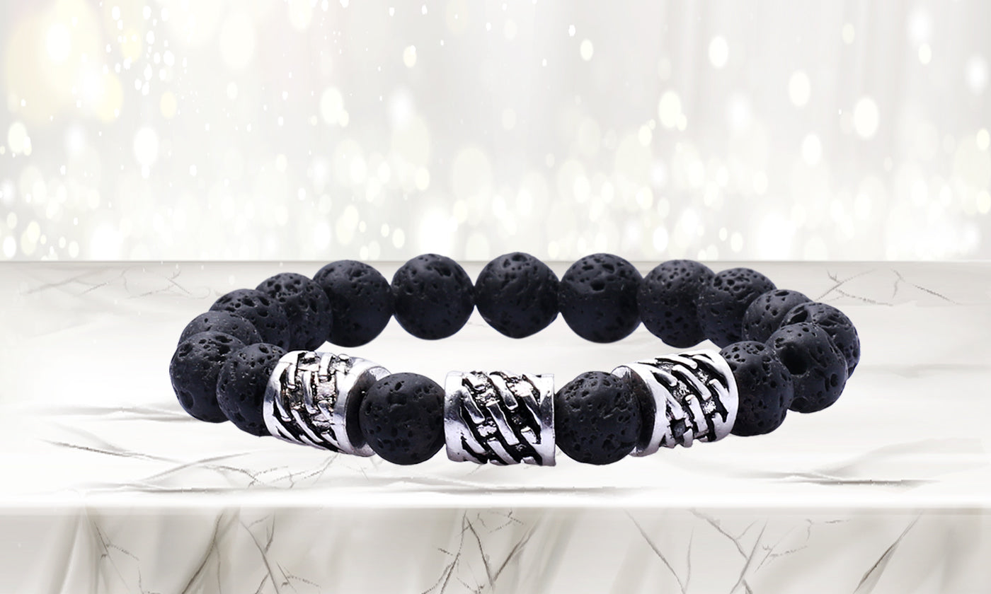 High Energy Lava Stone Diffuser Bracelet with  Optional Essential Oils