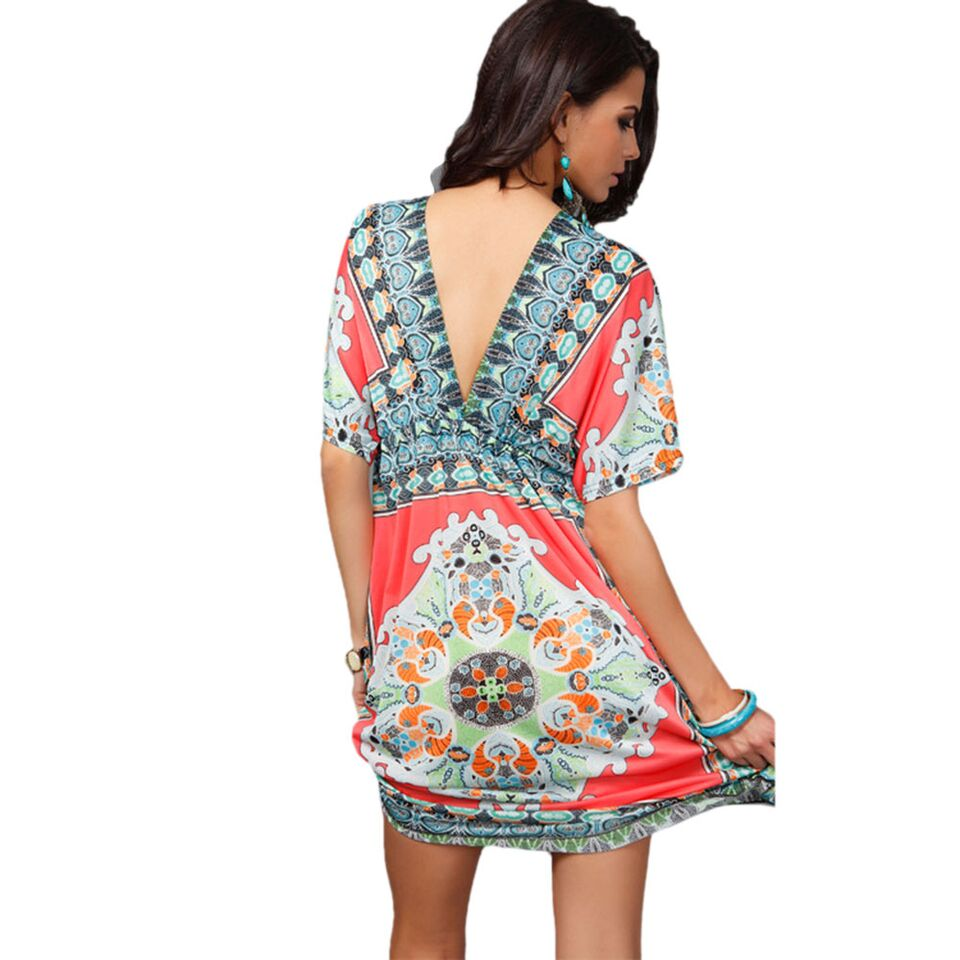 Hailey Boho V-Neck Dress