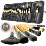 24-Piece Make Up Brush Set with Case