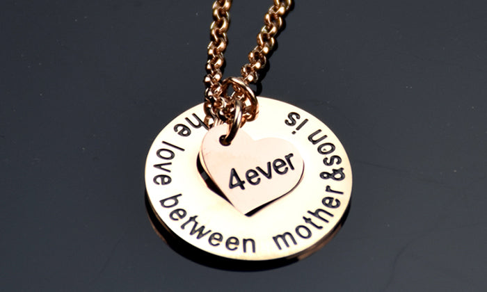"NECKLACE ""The Love Between Mother and Son is Forever"""