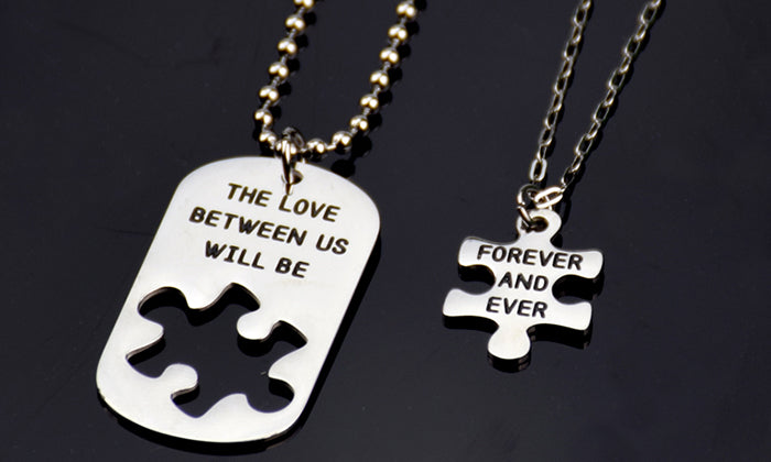 "NECKLACE ""The Love Between Us Will Be Forever And Ever"""