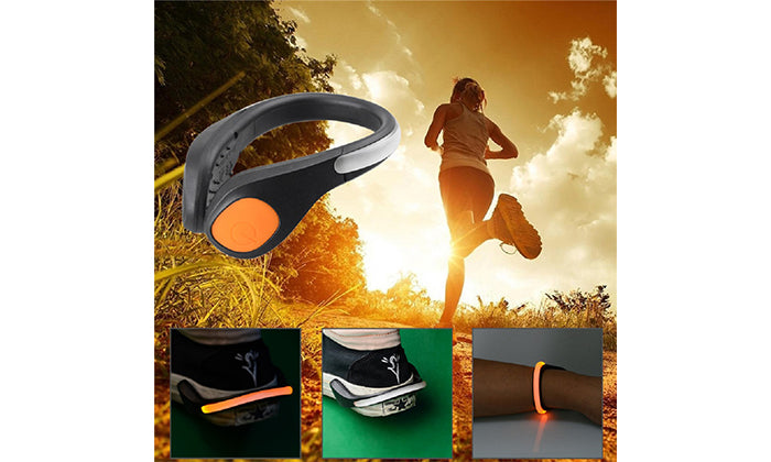 2-Pack Night Safety LED Shoe Clip Lights for Biking, Running, Walking