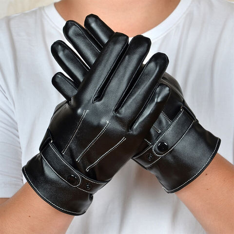 PU Leather Touchscreen Gloves
