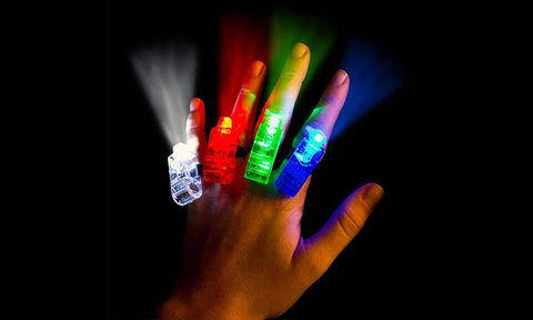 12-Pack LED Finger Lights