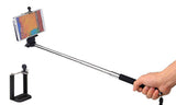 2-Piece Set Extendable Selfie Stick with Bluetooth Shutter