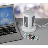Desktop Tower Plug Hub With Surge Protector