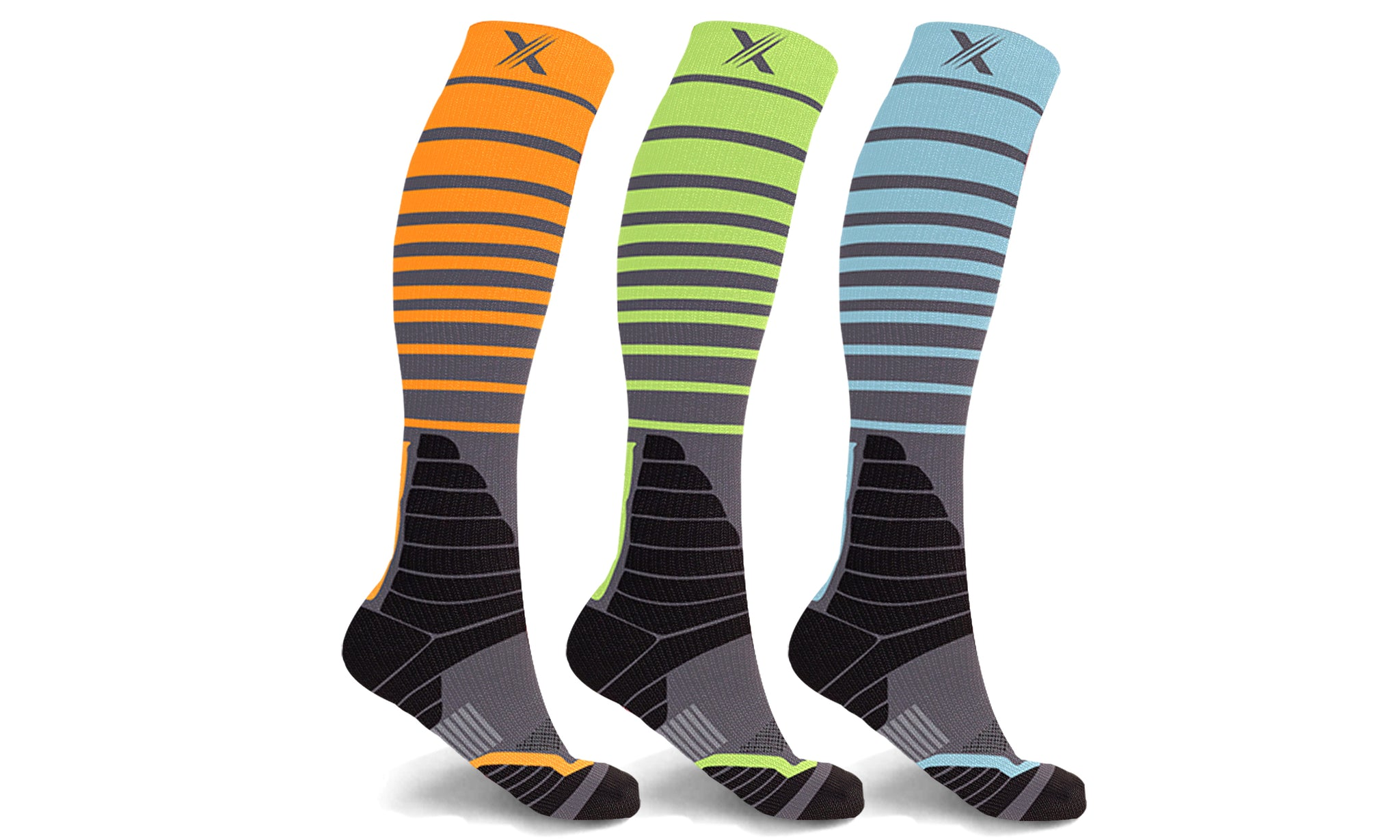 Copper Infused Elite Compression Socks (3-Pairs)