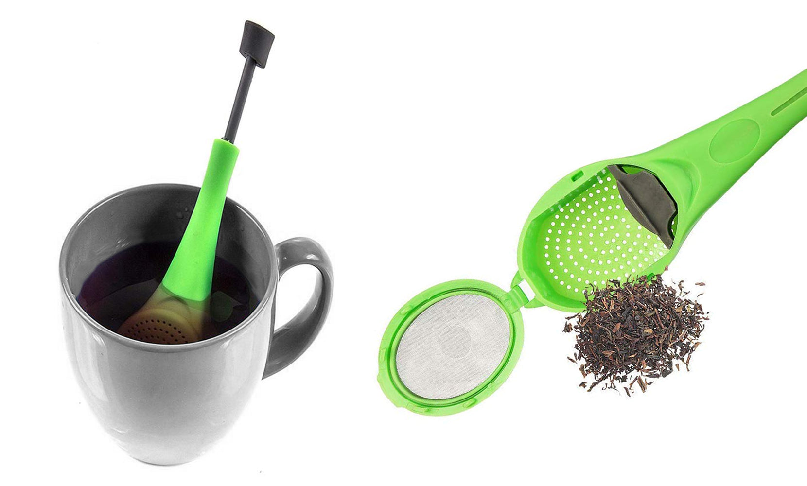 Healthy  Tea Steeper and Infuser, Filter and Strainer (2, 4 or 6-Pack)