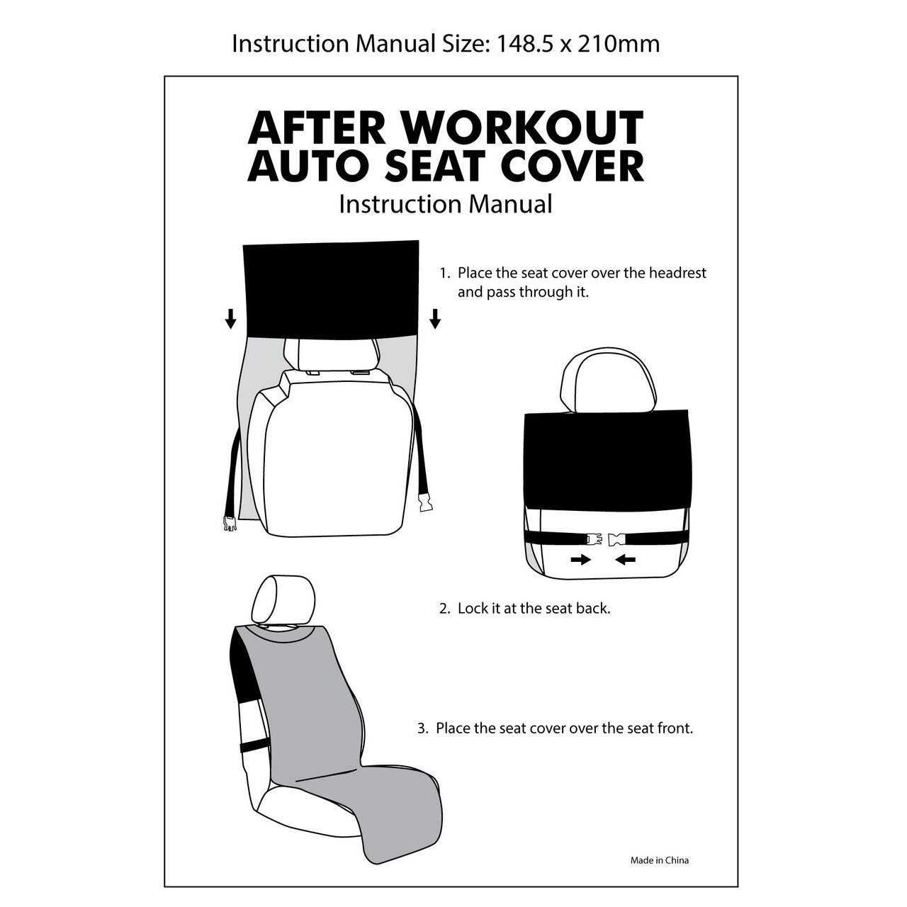 After Workout Auto Seat Cover