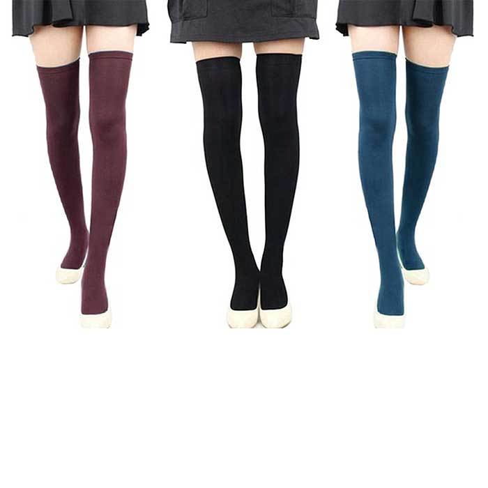 1- or 6-Pair : Women's Over-the-Knee Compression Stockings