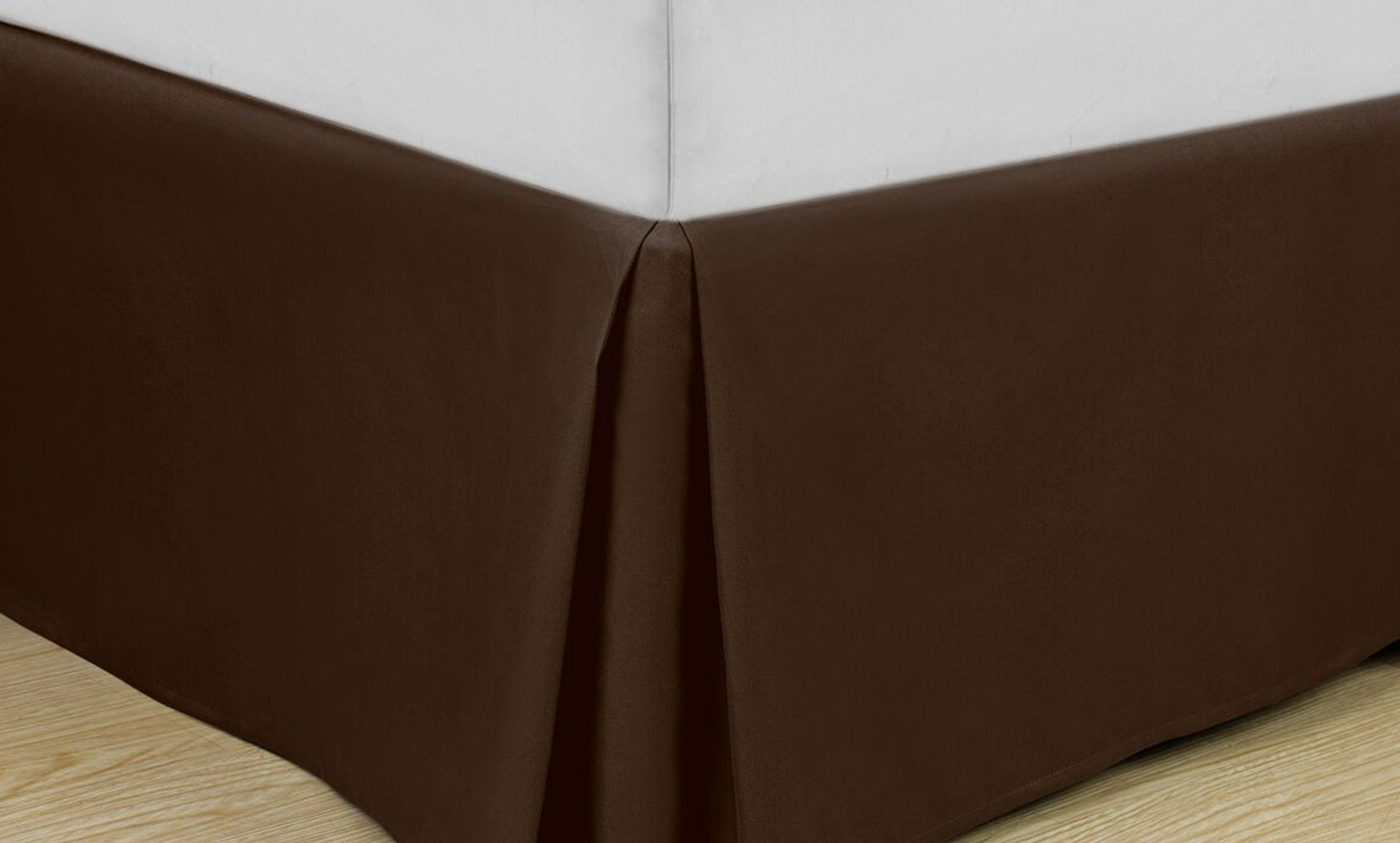 Luxury Home Pleated Easy-fit Microfiber 14-inch Drop Bedskirt