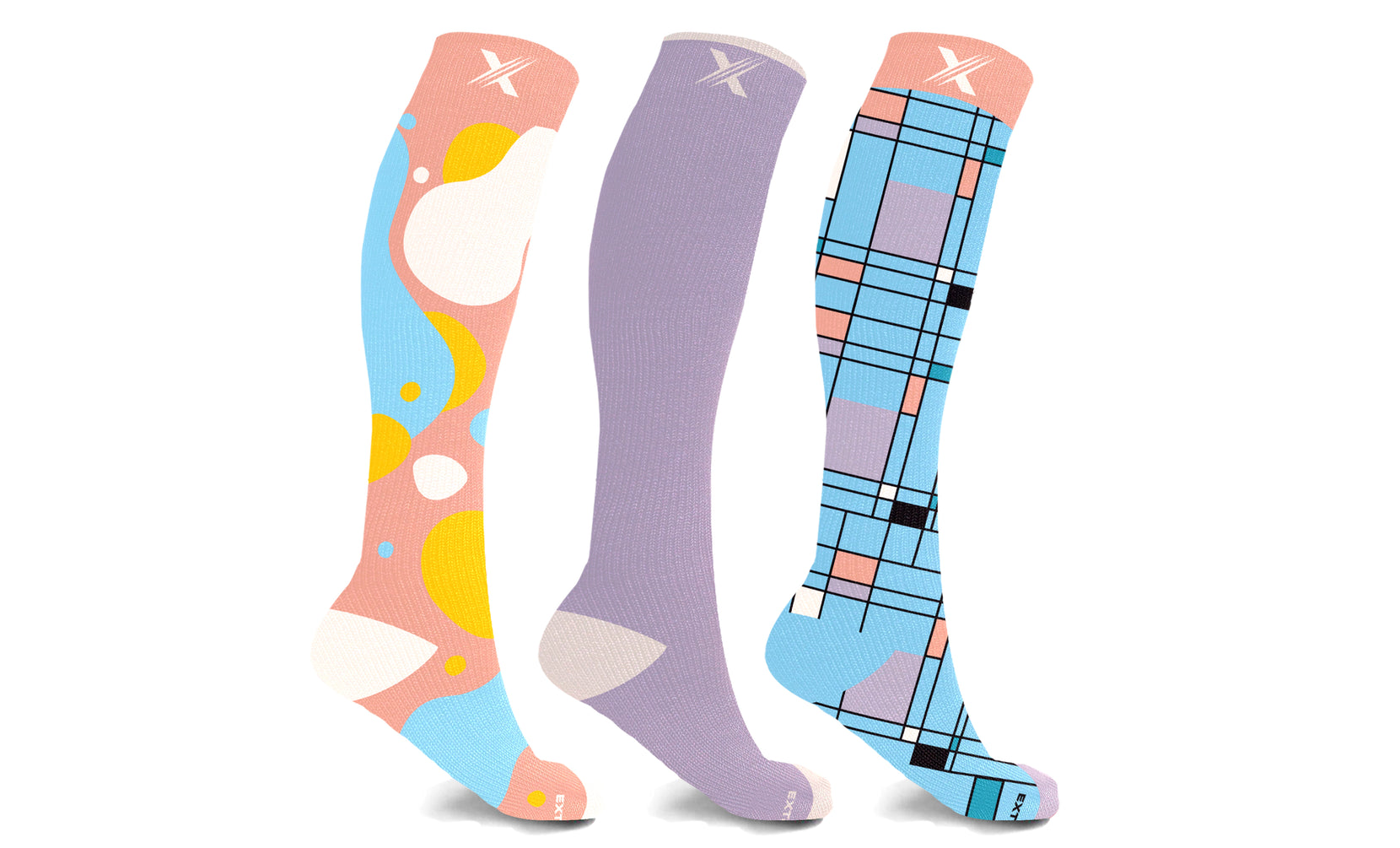 Women's Active Wear Knee High Compression Socks (3-Pairs)