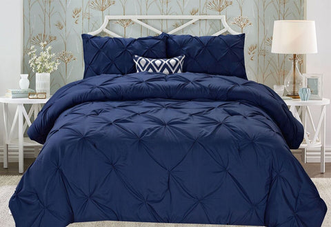 Luxury Home Modern Pinch Pleated Comforter Set (2- or 3-Piece)