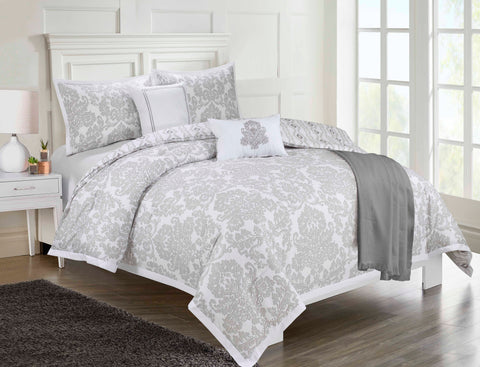Ellen Tracy Reversible Print Comforter Set (6-Piece)