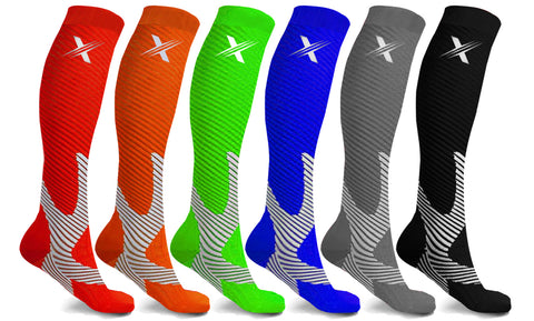 6-Pairs: Recovery and Performance Compression Socks
