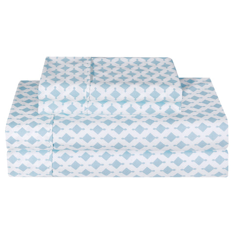 Printed or Solid Microfiber Sheet Set