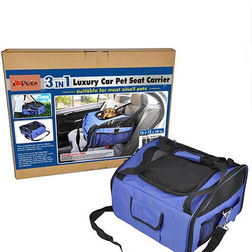 3 IN 1 Luxury Car Pet Seat Carrier