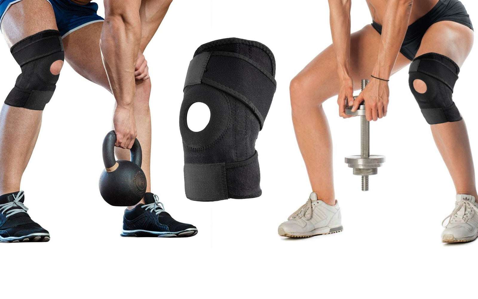1-Pack or 2-Pack : Copper Infused Knee Support Sports Wrap
