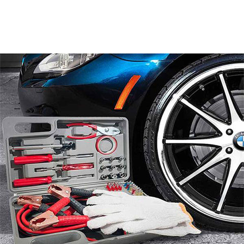 35-Piece : Roadside Emergency Kit with Jumper Cables