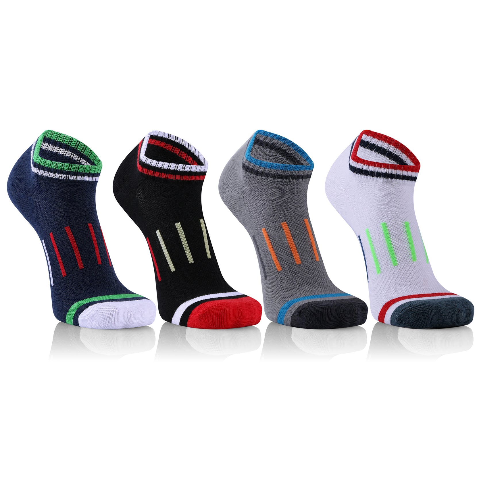 4-Pairs: Low-Cut Quick-Dry Compression Socks
