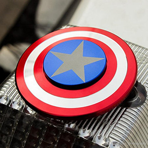 Captain America Shield Fidget Spinner - Assorted Colors