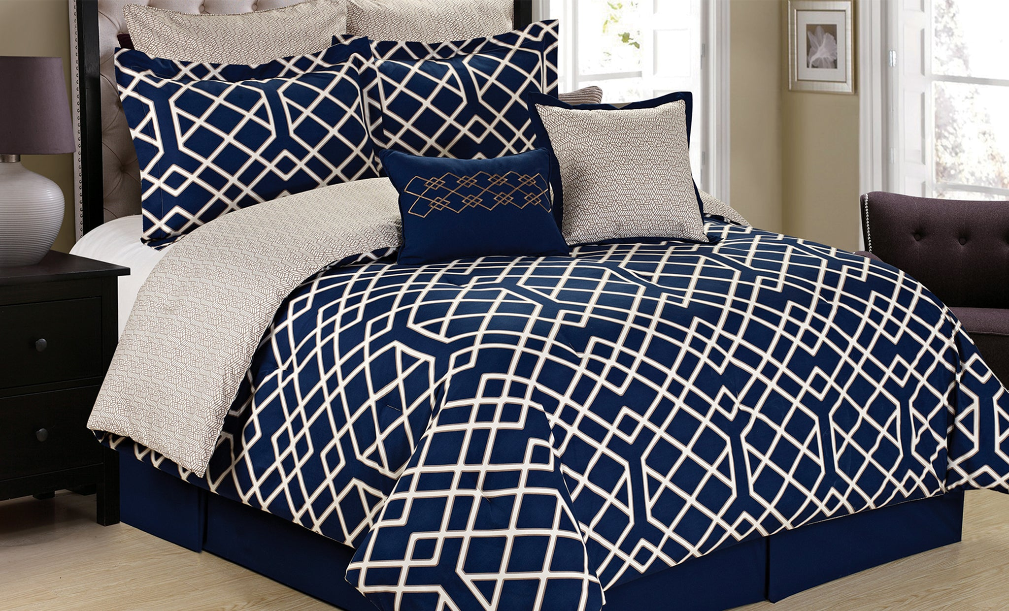 Reversible Comforter Set (6- or 8-Piece)