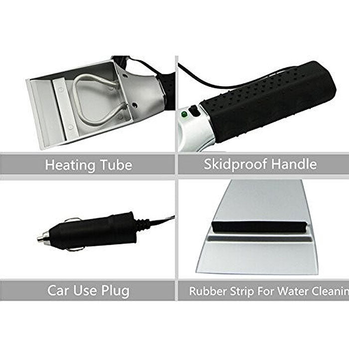 Heated Ice Scraper for Car Windshield