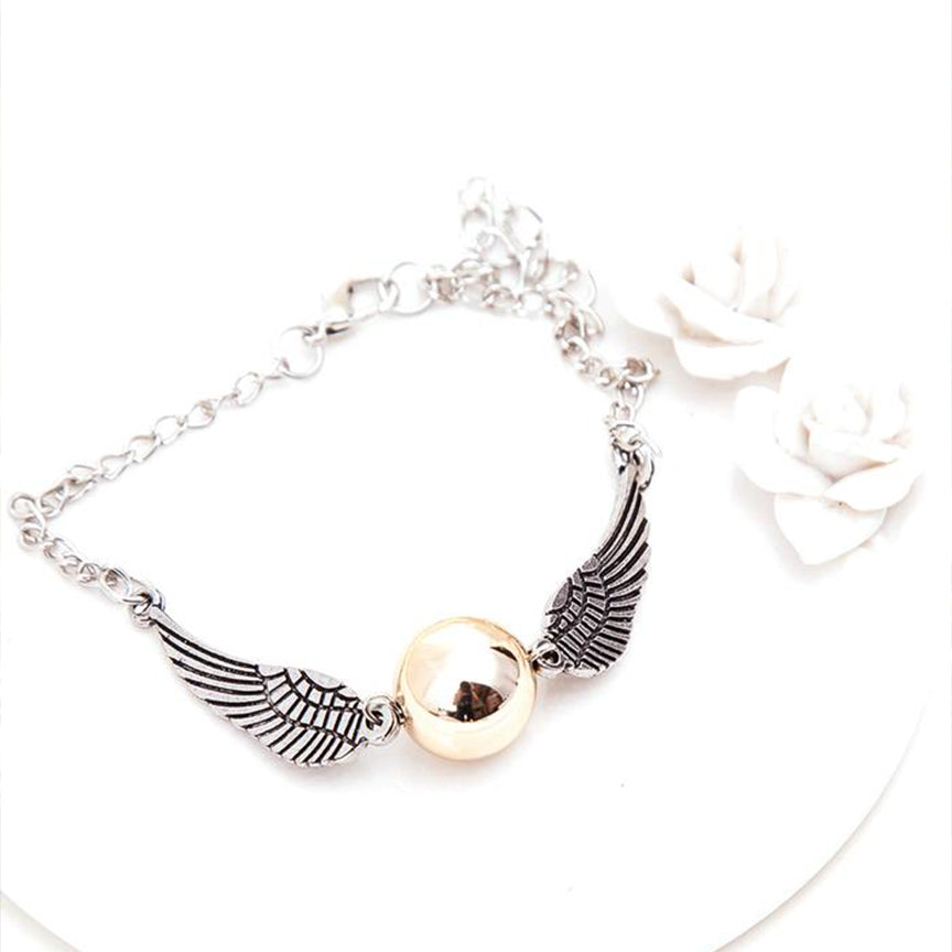 Harry Potter Two Tone Golden Snitch Charm Bracelet