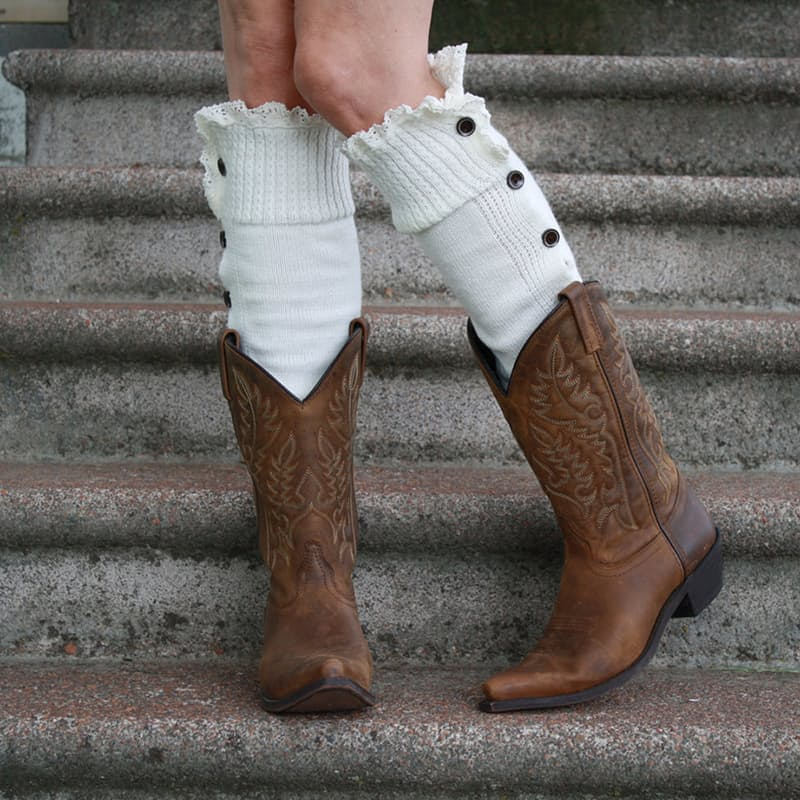 Full-Lenght Buttoned Leg Warmers