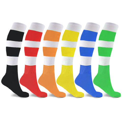 6-Pairs: Unisex Striped Compression Socks