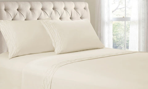 Diamond Pleated Microfiber Sheet Set (4-Piece)