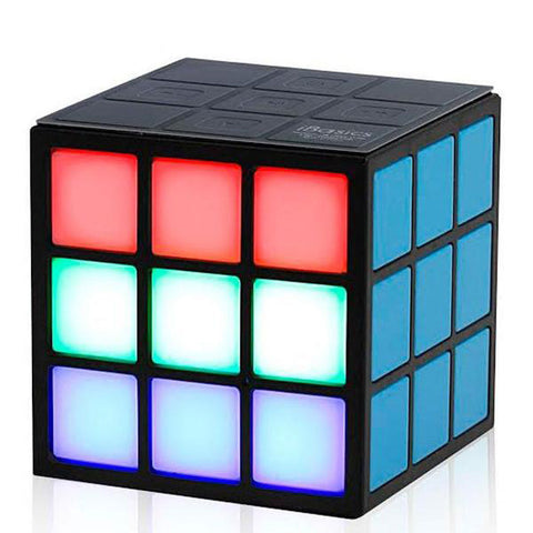 Rubik's Cube Inspired Bluetooth Speaker with Dancing 5-Colors LED Lights