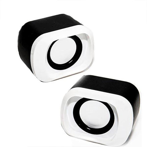 Amplified Stereo USB Dual Speakers With Volume Control