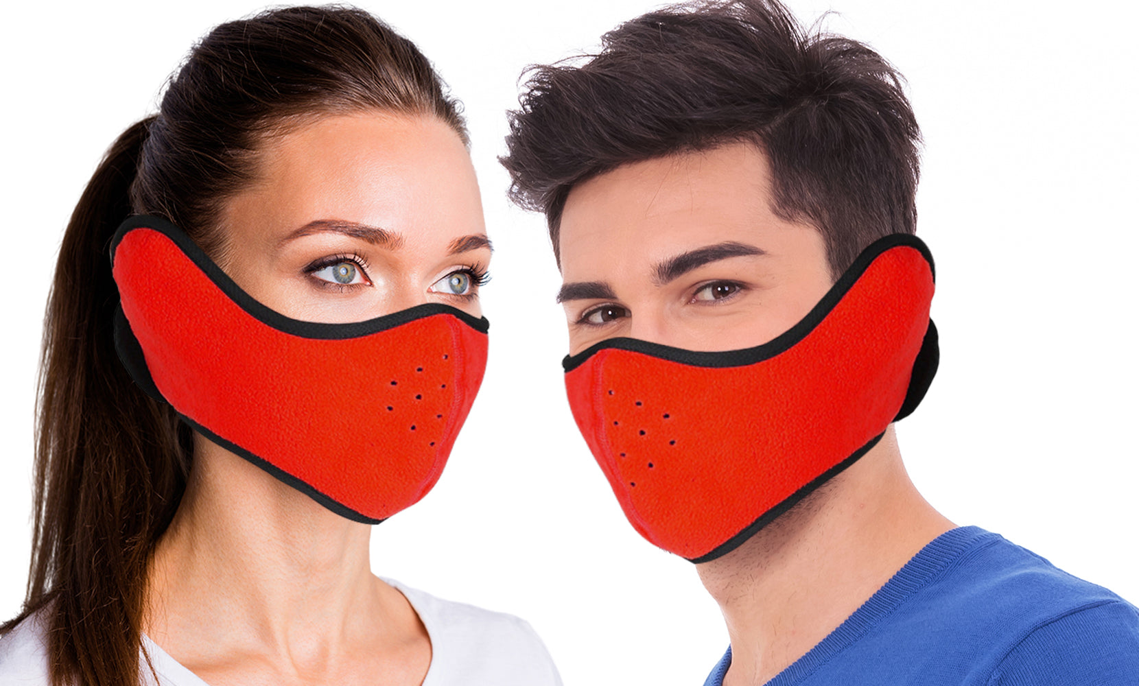 Protective Winter Ski Protective Face Mask with  Earmuffs