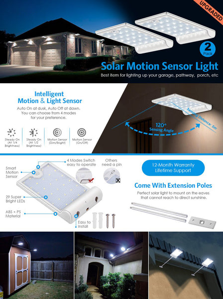 superb exterior house lights 4. 2 EXTENSION POLES: Install Solar Wall Lights With Extension Poles For A Larger Cover Range Or Mount It On The Directly As Cordless Automatic Superb Exterior House 4 I