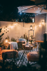 cozy outdoor spaces with lights