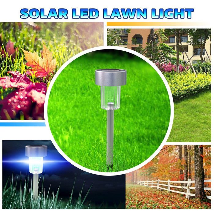 12-Pack Elegant Solar Landscape Light For Garden Lawn Patio | Bright! - Sharper Designs