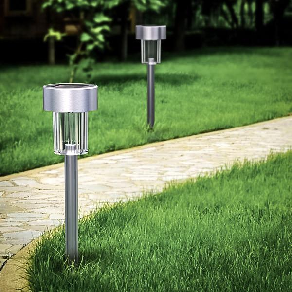 12-Pack Elegant Solar Landscape Light For Garden Lawn Patio | Bright! - True Lumens