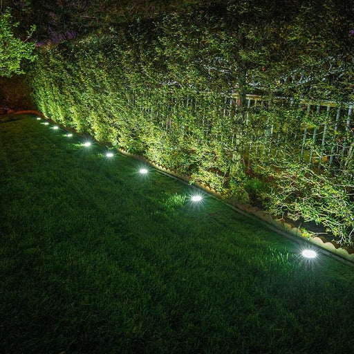 8LED Ground Outdoor Solar Lights | 40 Lumens | Daylight White | (6-Pack) - True Lumens