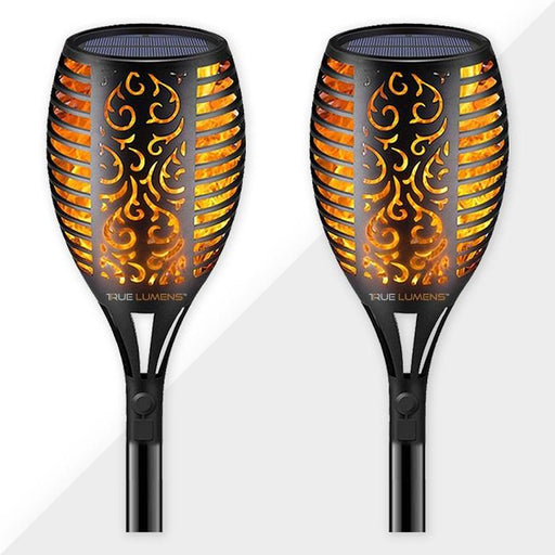 96LED Flickering Flame Solar Light | Dusk to Dawn | (2-Pack) - True Lumens