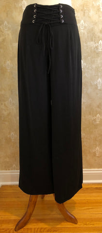 Black Corset Wide Leg Pants