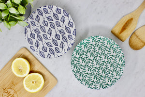 Leafy Fabric Bowl Covers - Set of 2