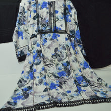 Load image into Gallery viewer, Blue and White 3 Piece Khaddar Outfit - Arisha Clothing