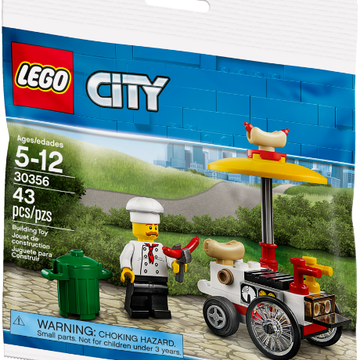 Hot Dog Stand - LEGO City Set Polybag (30356)
