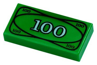 $100 Dollar Bill - Official LEGO® Part