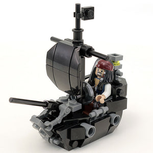 Custom LEGO Black Ship (Pearl) with Jack Sparrow Minfigure