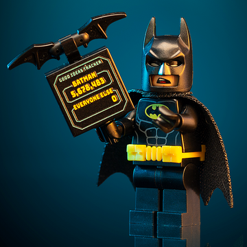 Batman w/ Good Ideas Tracker Sign - LEGO DC Comics Minifigures