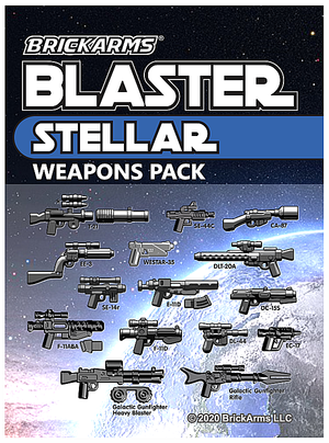 BrickArms Blasters Stellar Minifigure Weapons Pack