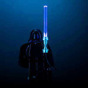 Blue Light-Up Lightsaber for LEGO Minifigure